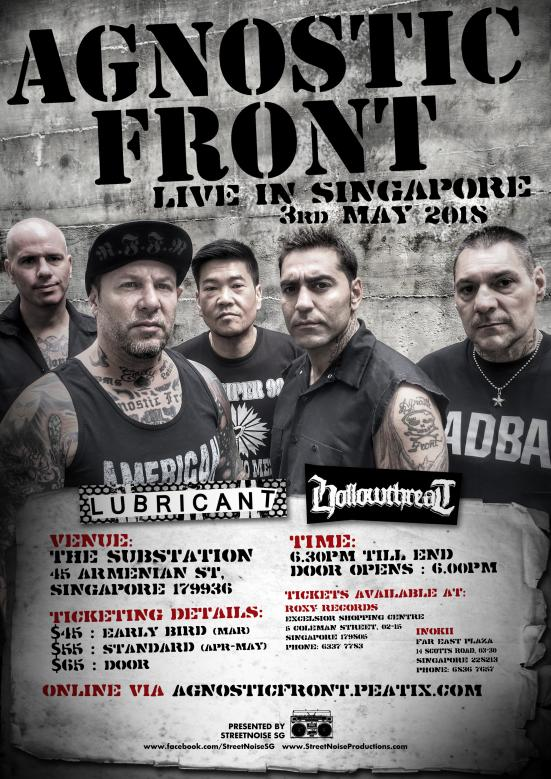 Name:  62) 2018.05.03 (Thu) - AGNOSTIC FRONT (NYHC) @ The Substation SG.jpg Views: 31 Size:  101.6 KB